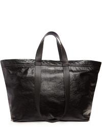 Balenciaga Carry Medium Creased Leather Tote