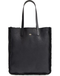 UGG Claire Genuine Shearling Tote Black