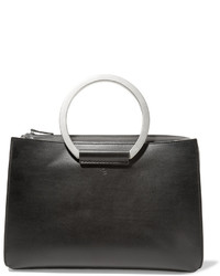 The Row Classic 5 Leather Tote Black