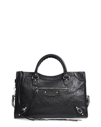 Balenciaga Classic City Aj Logo Strap Leather Tote