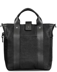 Commuter leather tote bag black medium 1138484