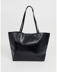 ASOS DESIGN Croc Bonded Shopper Bag