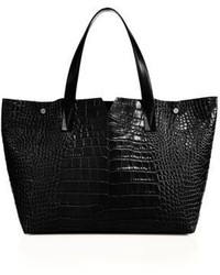 Vince Croc Embossed Leather Tote