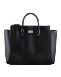 Dsquared2 Calf Hair Tote Bag Black