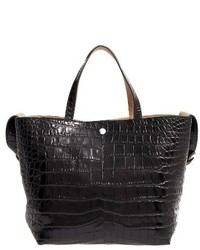 Elizabeth and James Eloise Croc Embossed Leather Tote Red