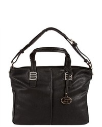 Fashion Distribution Center Mandy Shoulder Tote Black