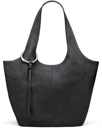 Elizabeth and James Finley Leather Shopper Grey