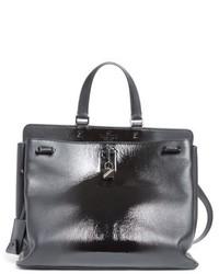 Valentino Garavani Large Pieper Leather Tote Black