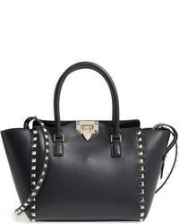Valentino Garavani Rockstud Small Double Handle Leather Tote