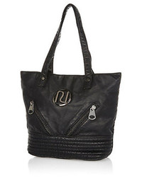 River Island Girls Black Washed Pu Shopper
