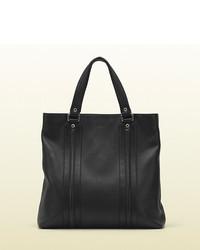 Gucci Black Leather Tote