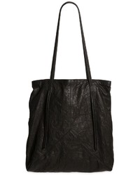 Isabel Benenato Washed Wrinkled Leather Tote Bag