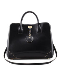 Jason Wu Jourdan Leather Turn Lock Tote Bag Black