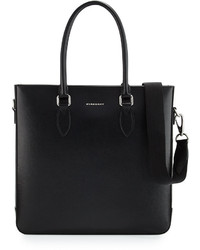 Burberry Kenneth Leather Tote Bag Black