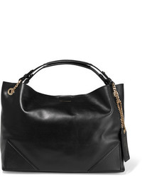 Karl Lagerfeld Kslouchy Small Leather Shoulder Bag Black