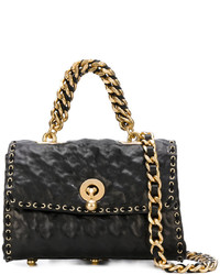 Ermanno Scervino Lace Up Detail Embossed Tote