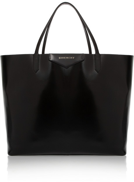d42934bf49a0 ... Givenchy Large Antigona Shopping Bag In Shiny Black Leather ...