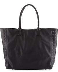 Neiman Marcus Large Grommet Tote Bag Black