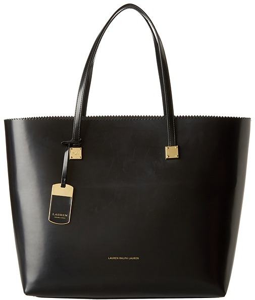 f805081315b9 ... Black Leather Tote Bags Lauren Ralph Lauren Lauren By Ralph Lauren  Fulham Tote ...