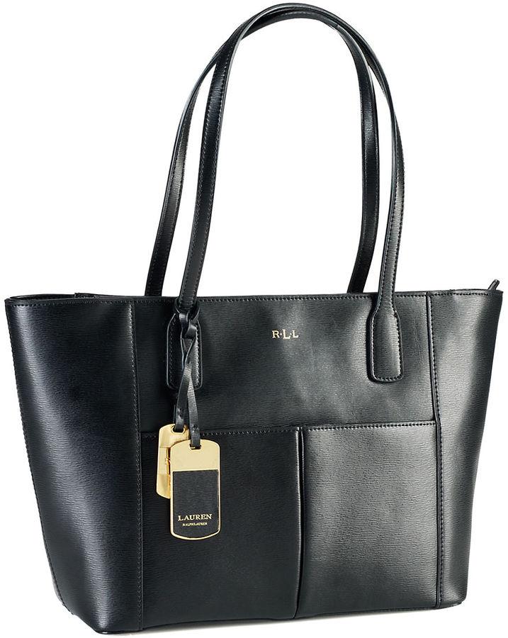 Lauren Ralph Lauren Tote Leather Tote Bag Lauren