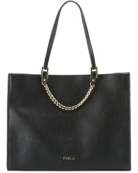 Furla Maggie Large Leather Tote Bag Onyx