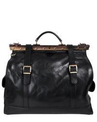 Martiar Il Giglio Black Leather Travel Doctors Bag