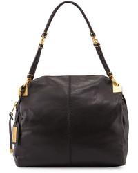 Badgley Mischka Martina Leather Tote Bag Black