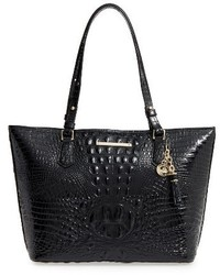 Brahmin Medium Asher Leather Tote Black