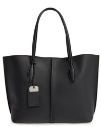 Tod's Medium Joy Leather Shopper Black