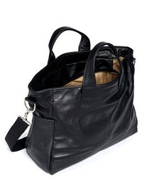 Meilleur Ami Paris Petit Ami Small Pebbled Panel Leather Tote