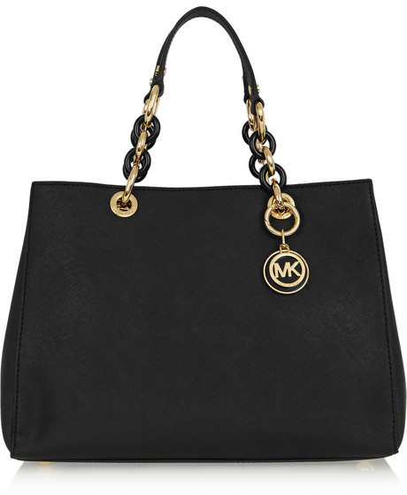 062e7edd440461 ... MICHAEL Michael Kors Michl Michl Kors Cynthia Medium Textured Leather  Tote Black ...