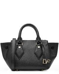 Diane von Furstenberg Mini Voyage Double Zip Satchel Leather Tote