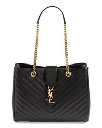 Saint Laurent Monogram Leather Shopper