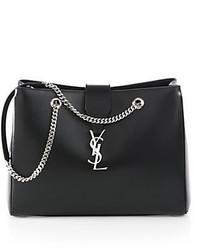Saint Laurent Monogramme Leather Shopper Tote