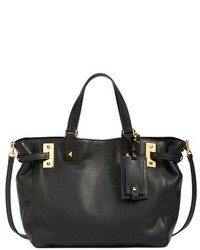 Valentino My Rockstud Calfskin Leather Tote Black
