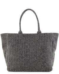 Prada Saffiano Double Zip Executive Tote Bag Black Where