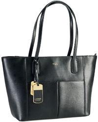Lauren Ralph Lauren Newbury Leather Pocket Shopper