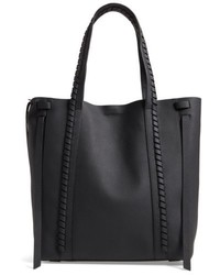 AllSaints Ray Leather Tote Black