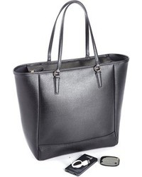 Royce Leather Rfid Blocking 24 Hour Tote Bag With Tracking Technology And Power Bank