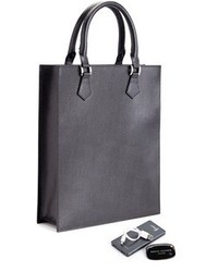 Royce Leather Rfid Blocking Slim Tote Bag With Tracking Technology And Power Bank