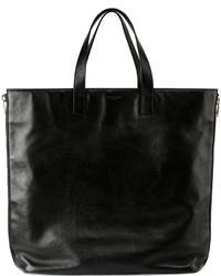 Saint Laurent Rider Leather Shopping Bag Black