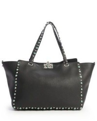 Valentino Rolling Rockstud Large Leather Tote