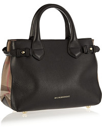 e376e269351d Burberry Shoes Accessories Small Leather And Checked Canvas Tote ...