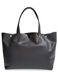 Vince Signature Collection Leather Tote Black