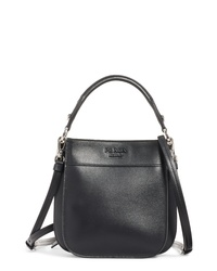 Prada Small City Leather Hobo Bag