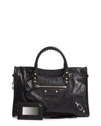 Balenciaga Small Classic City Logo Strap Leather Tote
