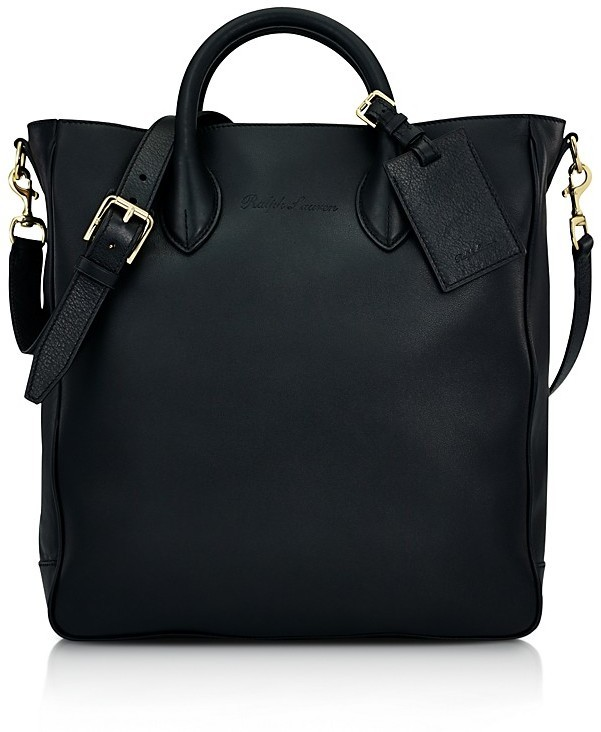 33523c45a4f4 ... Bags Ralph Lauren Black Label Soft Gents Leather Tote ...