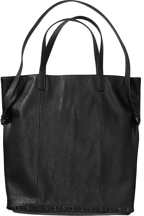 08129a192a ... Black Leather Tote Bags Old Navy Studded Faux Leather Totes ...