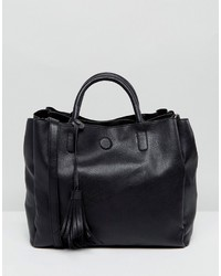Oasis Tassel Detail Faux Leather Tote Bag