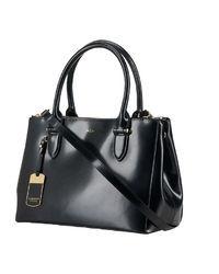 Lauren Ralph Lauren Taylor Leather Double Zip Spazzolato Shopper